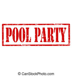Pool Party-stamp