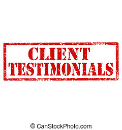 Client Testimonials-stamp - Grunge rubber stamp with text...