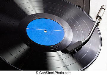 Vinyl on a gramophone - Vinyl record on a gramophone