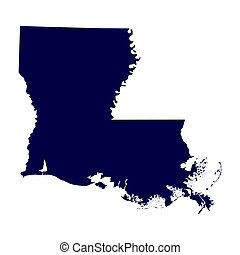 map of the US state of Louisiana
