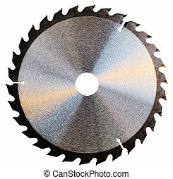 Saw-blade - Circular saw blade isolated over a white...