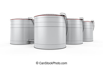 Fuel Storage isolated on white background. 3D render