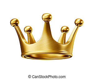 crown - gold crown isolated on a white background