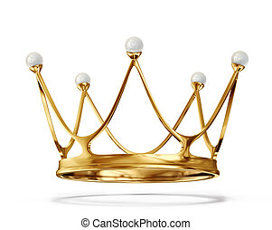 gold crown isolated on a white background