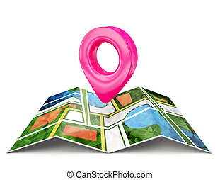 location sign isolated on a white background