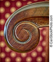handmade solid wood armchair detail