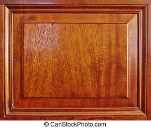 natural wood wainscot frame closeup