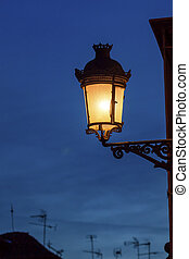 Old Street Lamp Walking Street Evening Carrera Del Darro...