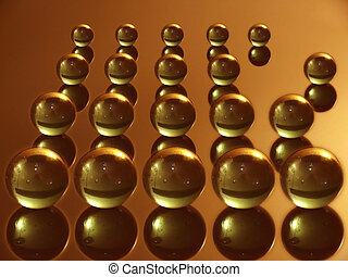 rebel - abstract background with gold balls on gold...