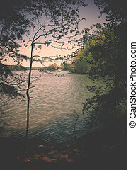 Lake Norman - A filtered background of Lake Norman in the...