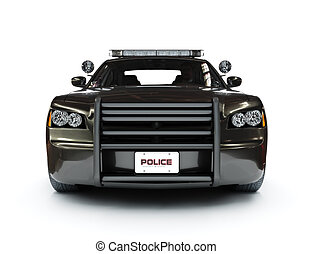 Police modern car. - Police modern car on a white...