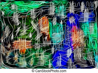 Abstract background - Abstract fibrous background with...