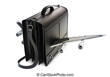 Traveling business black suitcase - Traveling business black...