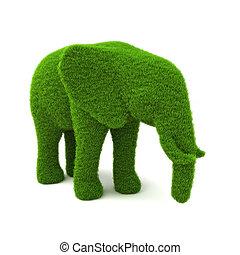 Animal elephant shaped hedge - Animal elephant shaped hedge...