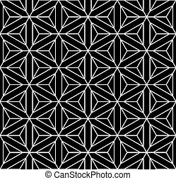 Seamless geometric op art texture. Hexagons, diamonds,...