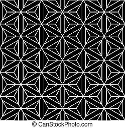 Seamless geometric op art texture. Hexagons, diamonds,...