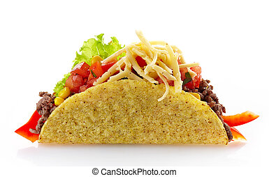 Mexican food Tacos - Mexican food Taco on a white background