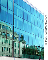 Reflective Glass Office Building