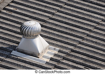 Single roof-ventilator on top of roof.