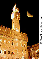 In Florence, on a night with a full moon - Florence - Tuscany - Italy 688