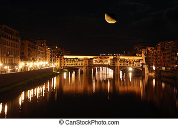 In Florence, on a night with a full moon - Florence - Tuscany - Italy 703