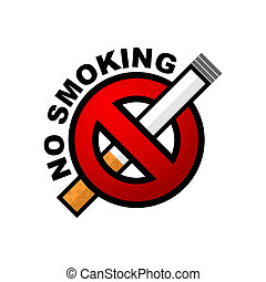 No smoking - IIlustration of No Smoking sign