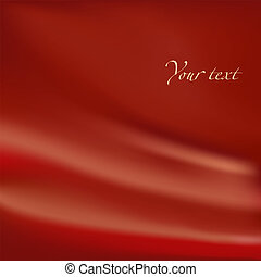 Abstract background. Red material with folds