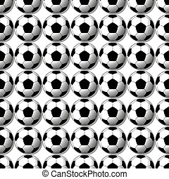 soccer ball - Vector seamless soccer ball background...