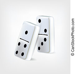 Two Domino Pieces . Clip-art, Illustration.