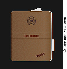 Old Confidential Folder - Old Confidential Folder. Clip-art,...