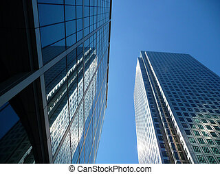Canary Wharf Office Buildings - View of Canary Wharf in...