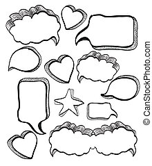 Hand made Speech bubbles collection