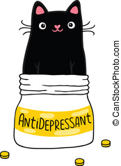 Cat and antidepressant. - Cute Cat and antidepressant....