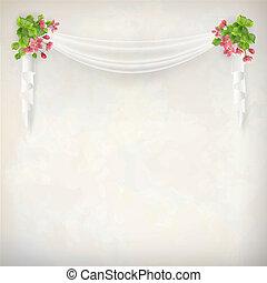 Vector Floral Vintage Wedding Background