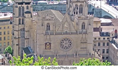 Saint Jean Cathedral in Lyon, Franc - Cathedral of St. John...