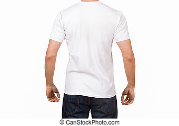 White Tshirt on Young Man - White tshirt template on young...