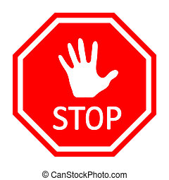 Traffic stop sign - Vector EPS10