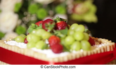 Fruit cake - Standing on desktop beautiful fruit cake
