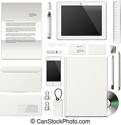 White Corporate ID mockup - Business corporate ID template,...