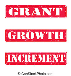 Grant, growth, increment stamps - Grant, growth, increment...