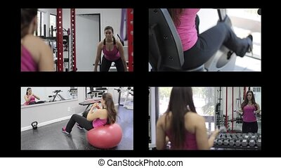 Fitness Multiple montage videos - Multiple montage videos...