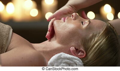 Skin Care Routine for the Rich - Close up of facial massage