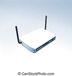 Wireless router - 3d render of an wireless router