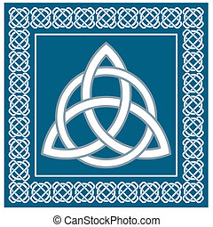Traditional celtic symbol,vector - Ancient symbol triskel,...
