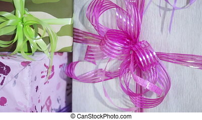 Boxes with gifts - Beautifully decorated boxes decorated...