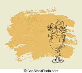 Ice cream with coffee cocktail