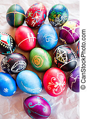 Easter eggs - Hand painted Ukrainian Easter eggs decorated...