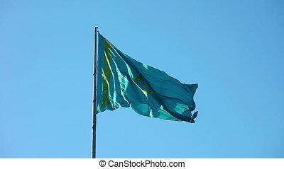 Flag of Kazakhstan - National flag of Kazakhstan Republic...