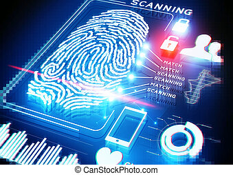 Digital Fingerprint Scanning background