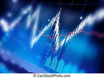 Stock Market Graphs - Stock market index graphs background.